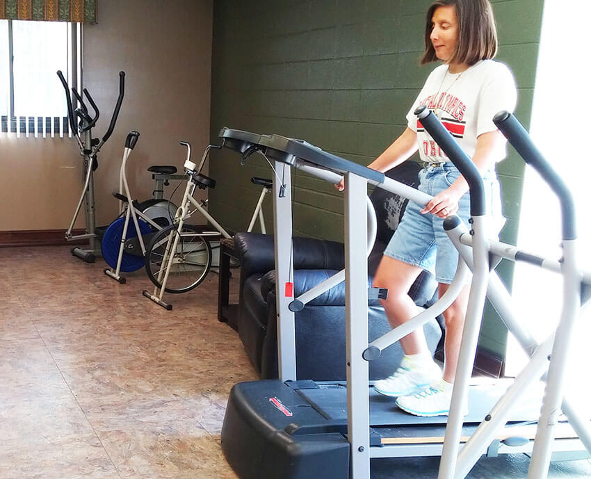 Fitness area at Jackson Towers