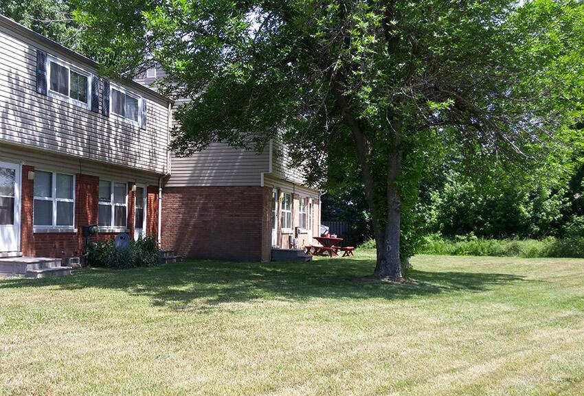 Back view at Woodlawn Homes