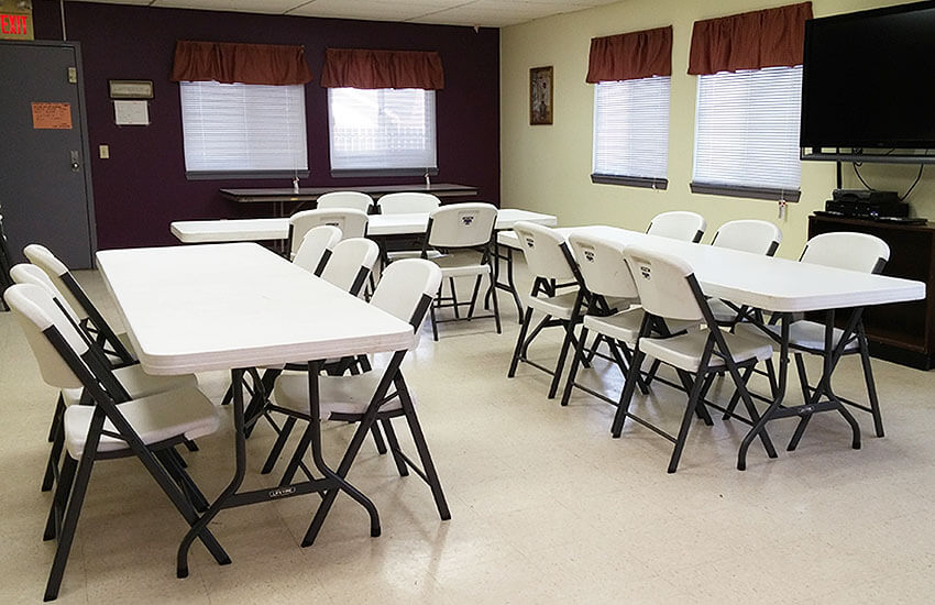 Community Room at Woodlawn Homes